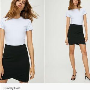 Black aritzia skirt